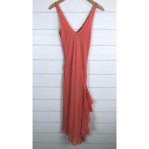 THEORY Painey Cotton Silk Dress Side Slit